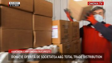 Donație oferită de Societatea A&G Total Trade Distribution seniorilor Asociației CARP OMENIA